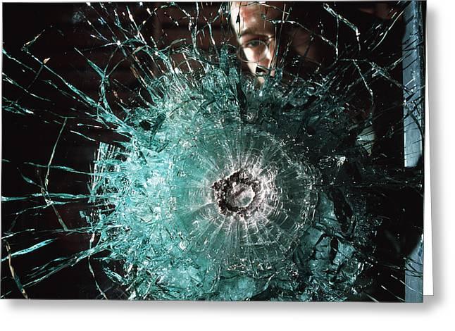 Lead Greeting Cards - Bulletproof Glass Greeting Card by Volker Steger