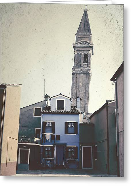 Campanile Greeting Cards - Burano Greeting Card by Joana Kruse