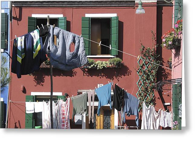 Burano. Venice Greeting Card by BERNARD JAUBERT