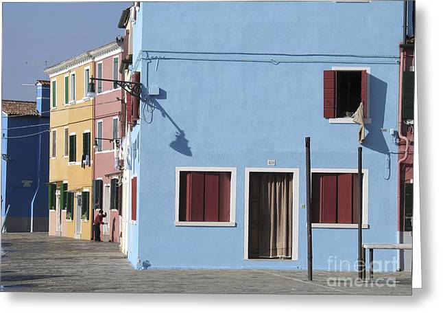Burano.VENICE Greeting Card by BERNARD JAUBERT