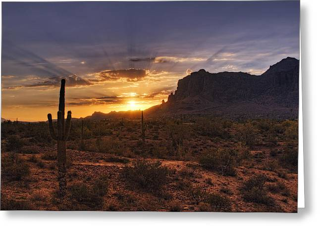 The Superstitions Greeting Cards - By Dawns Early Light Greeting Card by Saija  Lehtonen
