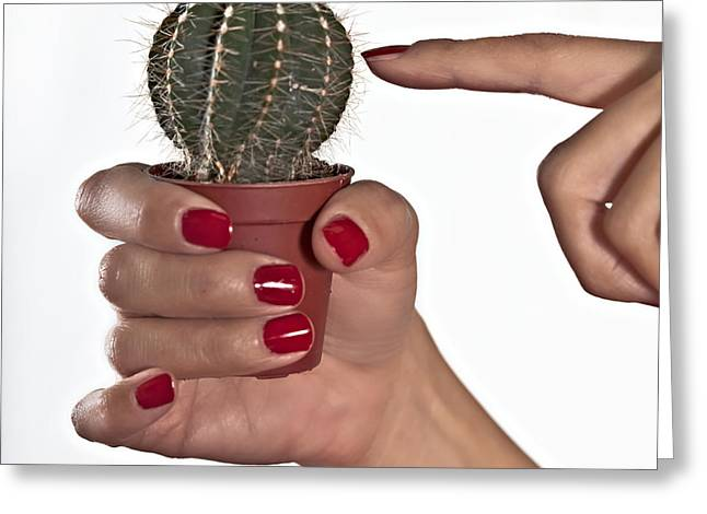 Fingers Greeting Cards - Cactus Greeting Card by Joana Kruse