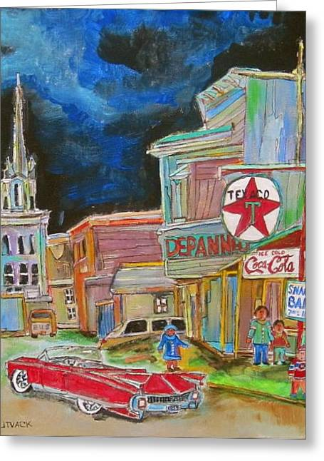 Michael Litvack Greeting Cards - Cadillac in Hawkesbury Greeting Card by Michael Litvack