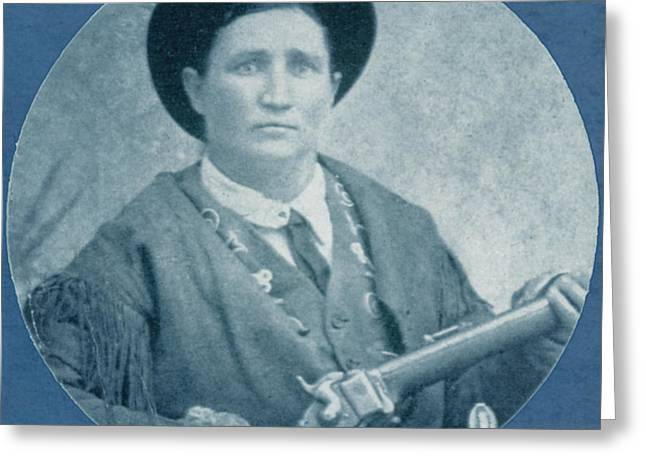 M J Greeting Cards - Calamity Jane, American Frontierswoman Greeting Card by Photo Researchers