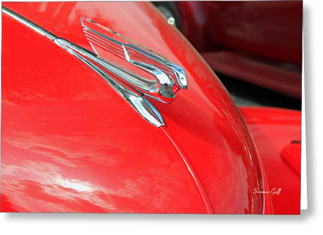 Candy Apples Greeting Cards - Candy Apple Red - 1940 Chevy Greeting Card by Suzanne Gaff