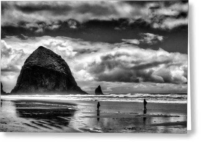 Lanscape Greeting Cards - Cannon Beach at Dusk Greeting Card by David Patterson