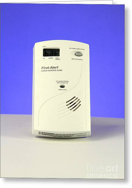 Carbon Monoxide Greeting Cards - Carbon Monoxide Detector Greeting Card by Photo Researchers, Inc.