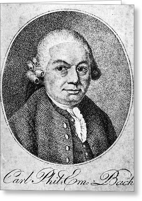 18th Century Greeting Cards - Carl Philipp Emanuel Bach Greeting Card by Granger