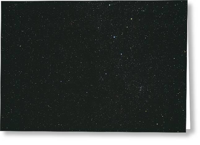 Double Cluster Greeting Cards - Cassiopeia Constellation Greeting Card by John Sanford