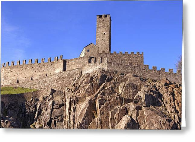 Historic Architecture Photographs Greeting Cards - Castelgrande - Bellinzona Greeting Card by Joana Kruse