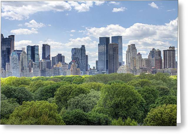 Warner Park Digital Art Greeting Cards - Central Park South Greeting Card by Ariane Moshayedi