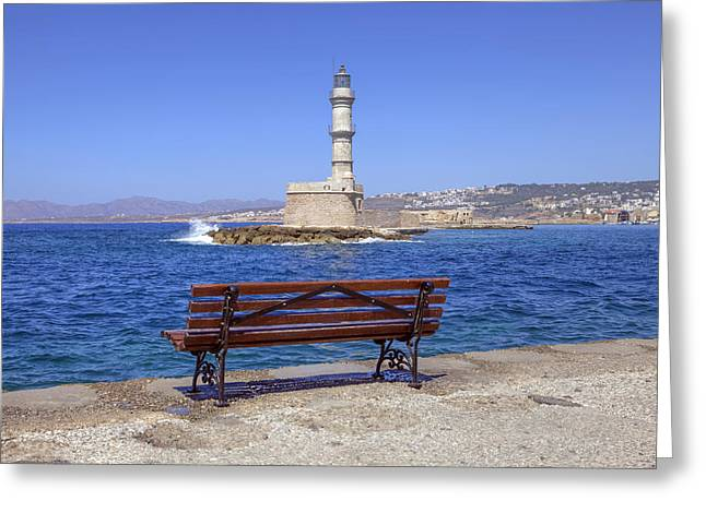 Crete Greeting Cards - Chania - Crete Greeting Card by Joana Kruse