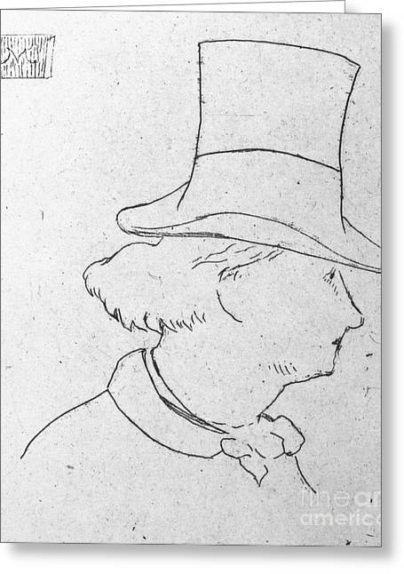 Charles Baudelaire Greeting Cards - Charles Baudelaire Greeting Card by Granger