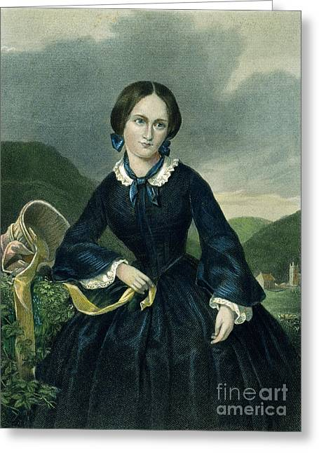 Corset Dress Greeting Cards - Charlotte BrontË Greeting Card by Granger