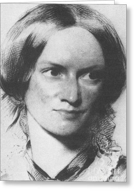 Charlotte Greeting Cards - Charlotte Bronte, English Author Greeting Card by Science Source