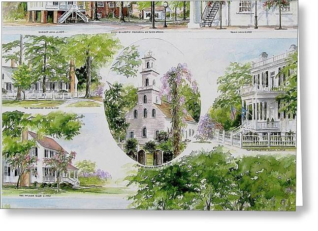 Cheraw Collage Greeting Card by Gloria Turner
