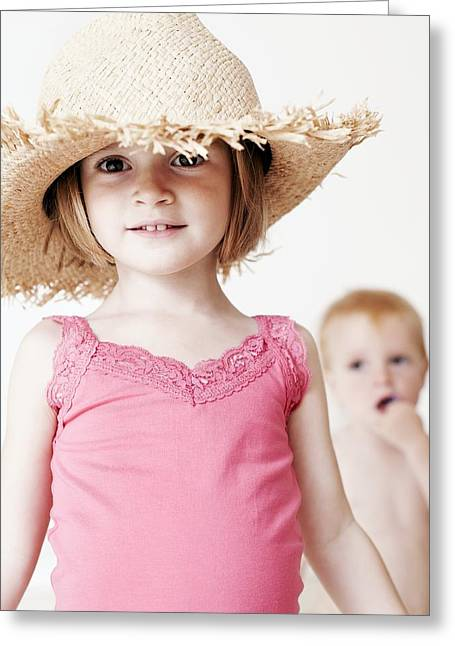 Child Care Greeting Cards - Children Playing Greeting Card by Ian Boddy