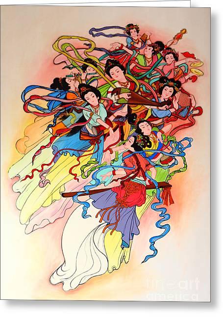 Chinese Painting  Greeting Card by Phalakon Jaisangat