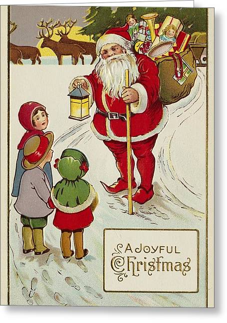 Nicholas Greeting Cards - Christmas Card Greeting Card by American School