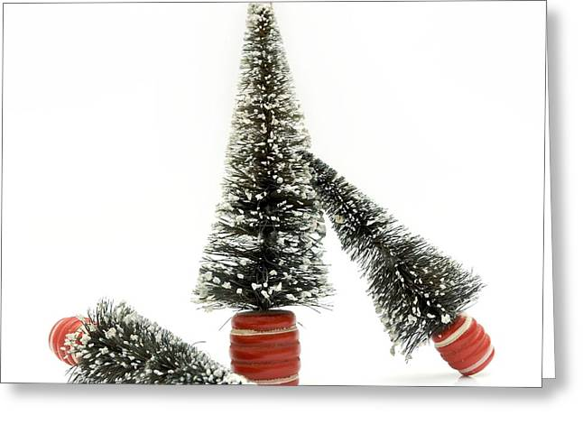 Fir Trees Greeting Cards - Christmas decoration Greeting Card by Bernard Jaubert