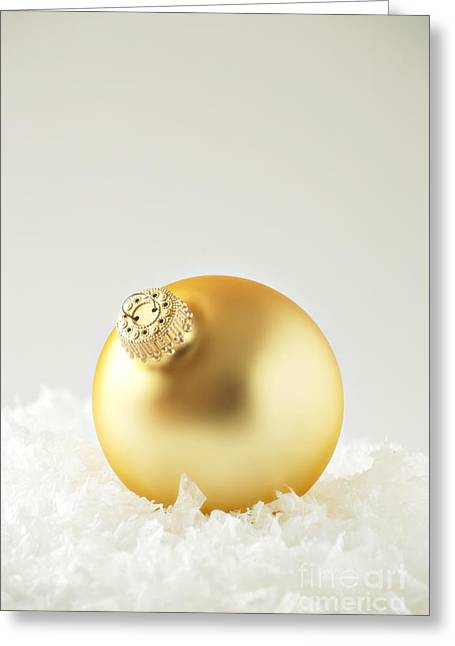 Golds Greeting Cards - Christmas Ornament Greeting Card by HD Connelly