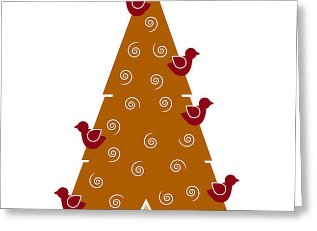 Christmas Tree Greeting Card by Frank Tschakert