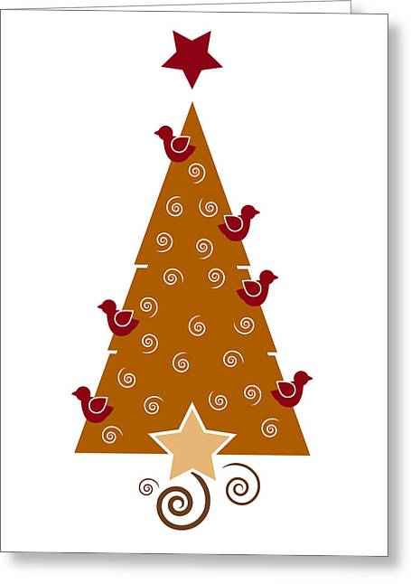 Wishes Greeting Cards - Christmas Tree Greeting Card by Frank Tschakert