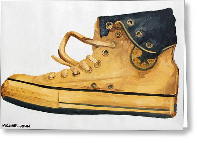 Basketball Team Paintings Greeting Cards - Chucks Greeting Card by Michael Ringwalt