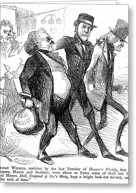 Trent Greeting Cards - Civil War: Cartoon, 1861 Greeting Card by Granger