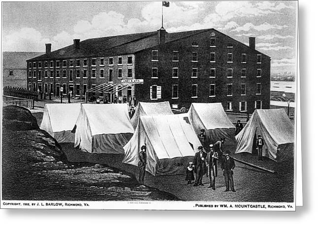 Confederate Flag Greeting Cards - Civil War: Libby Prison Greeting Card by Granger