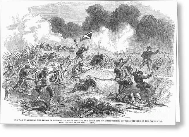 Brigade Greeting Cards - Civil War: Petersburg Greeting Card by Granger