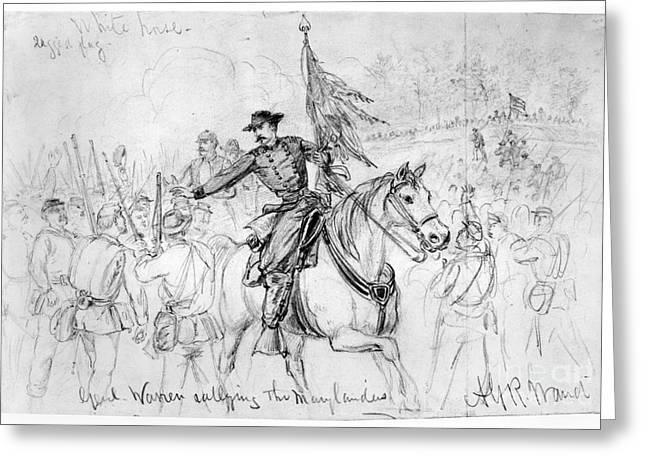 War Drawing Greeting Cards - Civil War: Spotsylvania Greeting Card by Granger