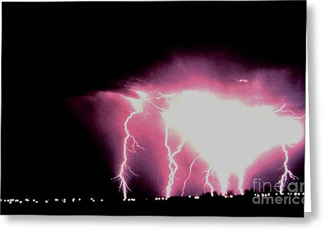 Cloud To Ground Greeting Cards - Cloud-to-ground Lightning Greeting Card by Science Source