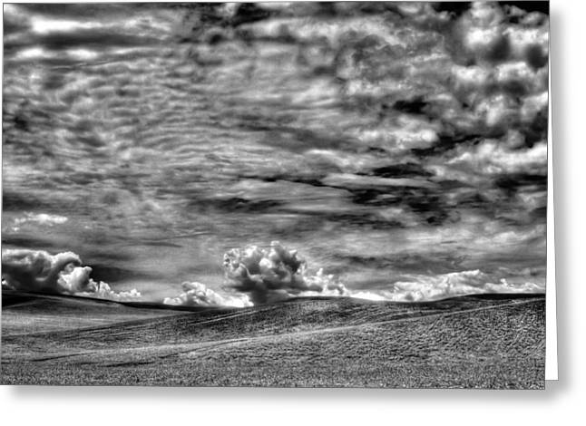 Lanscape Greeting Cards - Clouds Over the Palouse Greeting Card by David Patterson