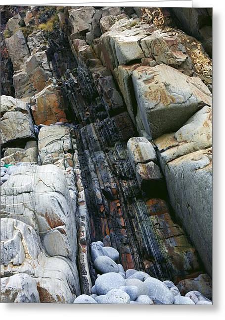 Geomorphology Greeting Cards - Coastal Rocks Greeting Card by Dr Keith Wheeler