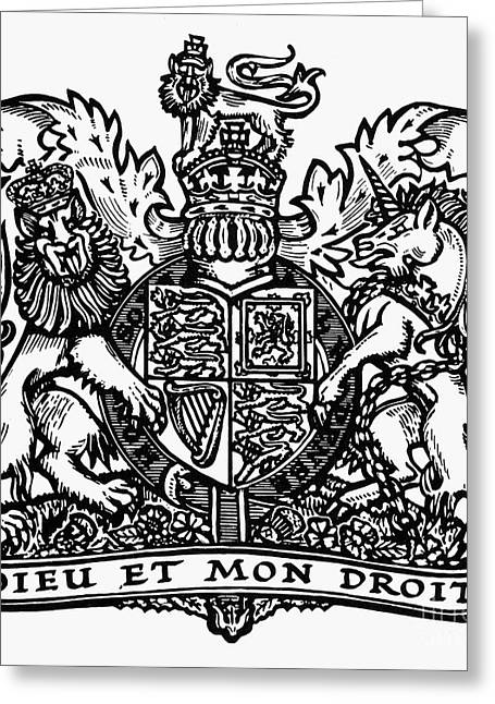 Rampant Greeting Cards - Coat Of Arms: Great Britain Greeting Card by Granger