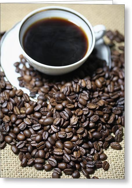 Kaffee Greeting Cards - Coffee Cup Greeting Card by Falko Follert