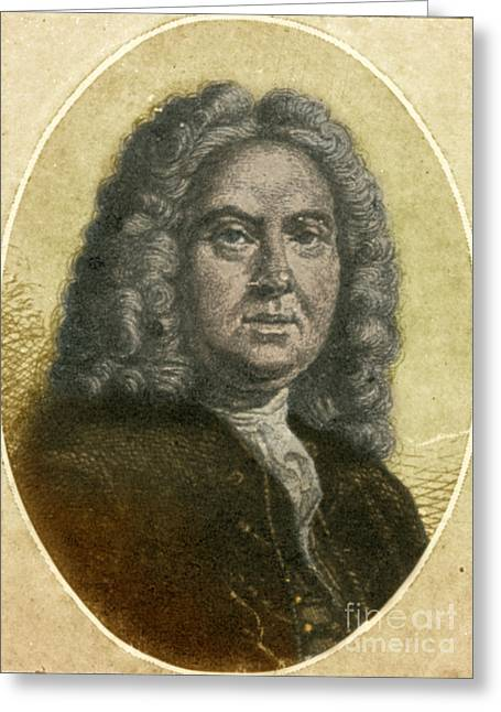 17th C Greeting Cards - Colley Cibber, English Poet Laureate Greeting Card by Photo Researchers