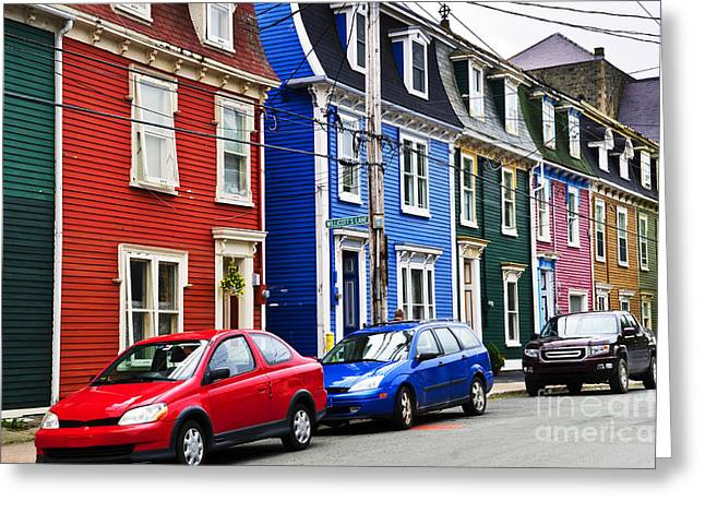 House Greeting Cards - Colorful houses in St. Johns Greeting Card by Elena Elisseeva