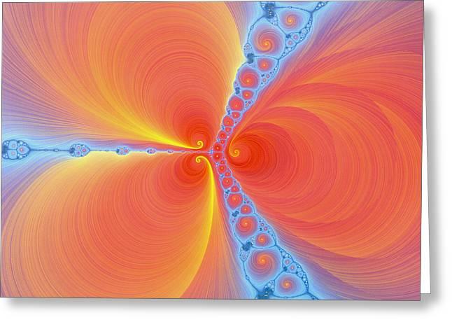 Fractal Image Greeting Cards - Computer-generated Julia Fractal Greeting Card by Mehau Kulyk