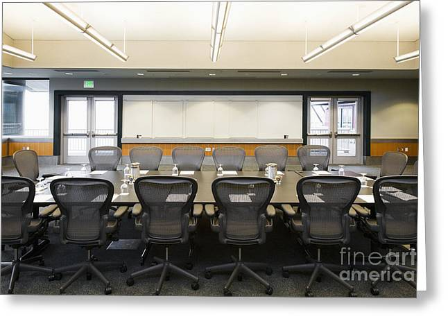 """""""meeting Room"""" Greeting Cards - Conference Room Greeting Card by Andersen Ross"""