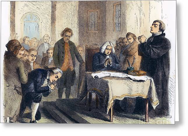 Chaplain Greeting Cards - Continental Congress, 1774 Greeting Card by Granger