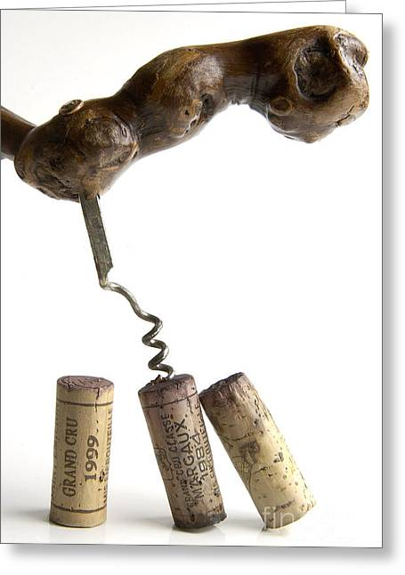 Stopper Photographs Greeting Cards - Corks of French wine. Greeting Card by Bernard Jaubert
