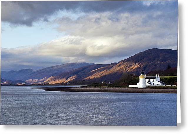 Argyll And Bute Greeting Cards - Corran lighthouse Greeting Card by Gary Eason