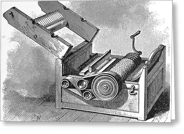 19th Century America Greeting Cards - COTTON GIN, 19th CENTURY Greeting Card by Granger