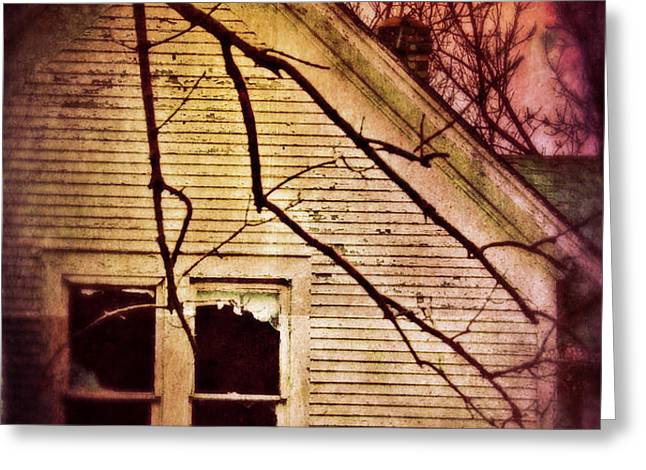Creepy Abandoned House Greeting Card by Jill Battaglia