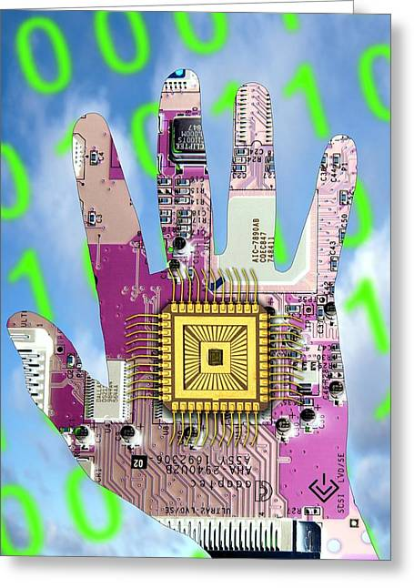 Component Greeting Cards - Cybernetics And Robotics Greeting Card by Victor De Schwanberg