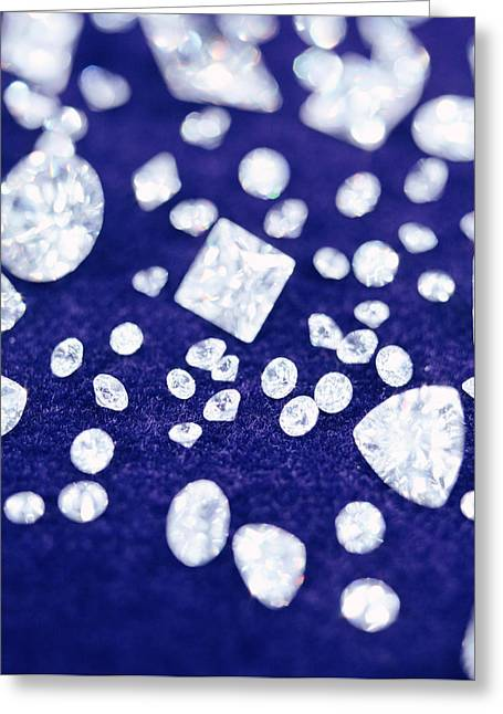 Diamonds Greeting Card by Lawrence Lawry