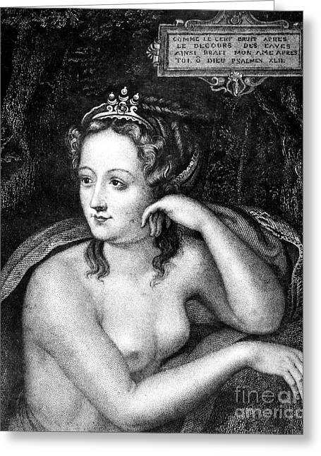 Duchess Greeting Cards - Diane De Poitiers (1499-1566) Greeting Card by Granger