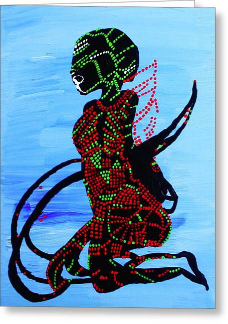 Dinka Bride - South Sudan Greeting Card by Gloria Ssali